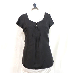 Black Silk Calvin Klein Jeans Blouse